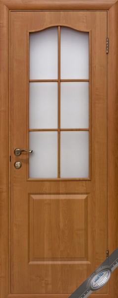 Дверное полотно, покрытое ПВХ пленкой, со стеклом Фортис В