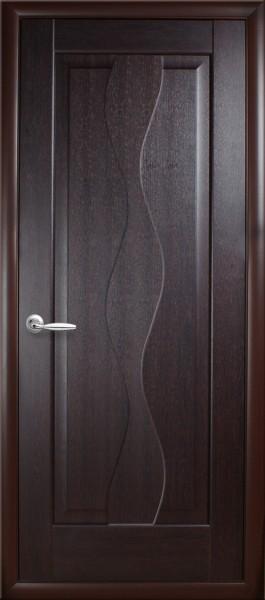 Дверное полотно. покрытое ПВХ пленкой, глухое, Маэстра Волна
