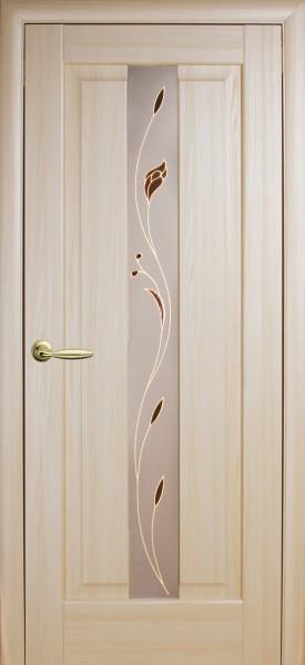 Дверное полотно. покрытое ПВХ пленкой, Маэстра Премьера со стеклом
