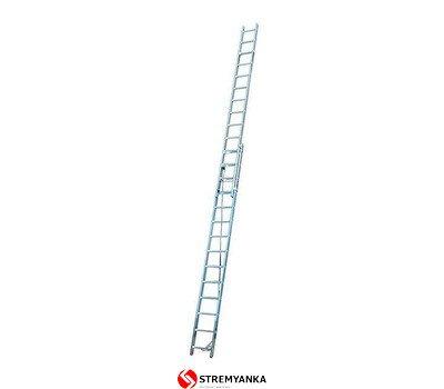 Фото  1 Двухэлементная лестница, выдвигаемая тросом Corda KRAUSE 2x14 ступеней 2234184