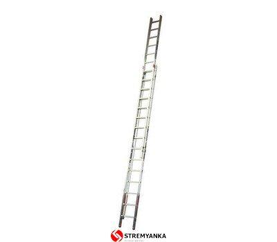 Фото  1 Двухэлементная лестница, выдвигаемая тросом Robilo KRAUSE 2x15 ступеней 2234183