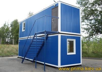 Двухэтажная бытовка 9х2,5 м с кондиционером и санузлом