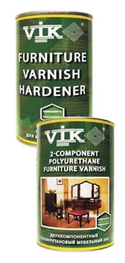 Двухкомпонентный полиуретановый лак для мебели. Vik®.2-х компонентный лак для мебели, на алкиднополиуретаново й основе.