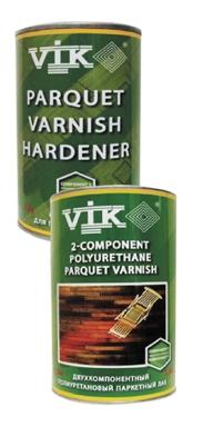 Двухкомпонентный полиуретановый паркетный лак. Vik®.2-х компонентный лак на полиуретановой основе.
