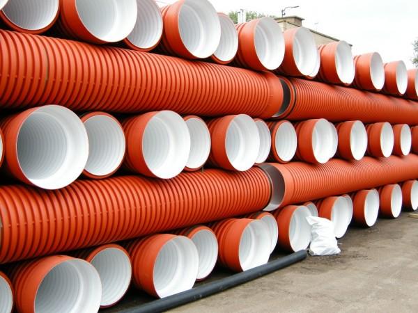 Двухслойные гофрированные трубы SN-8 для безнапорной канализации 1200мм