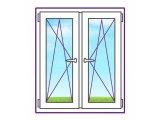 Фото 1 Двостулкові пластикове вікно з двома поворотно-відкидними стулками 328391