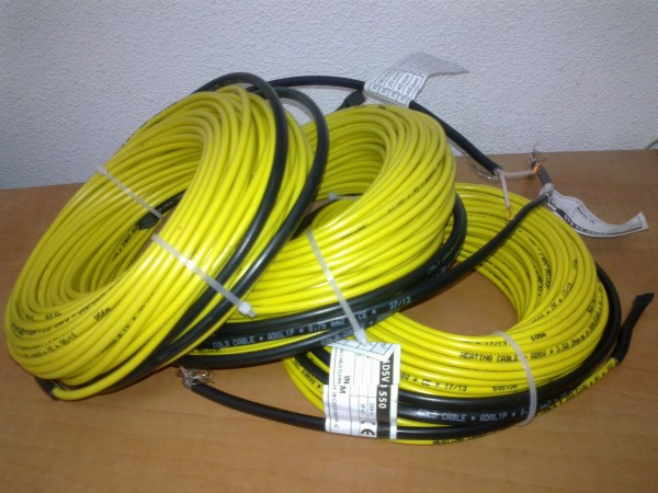 Двухжильный нагревательный кабель 20 Вт/м, d=4 мм, 22 м