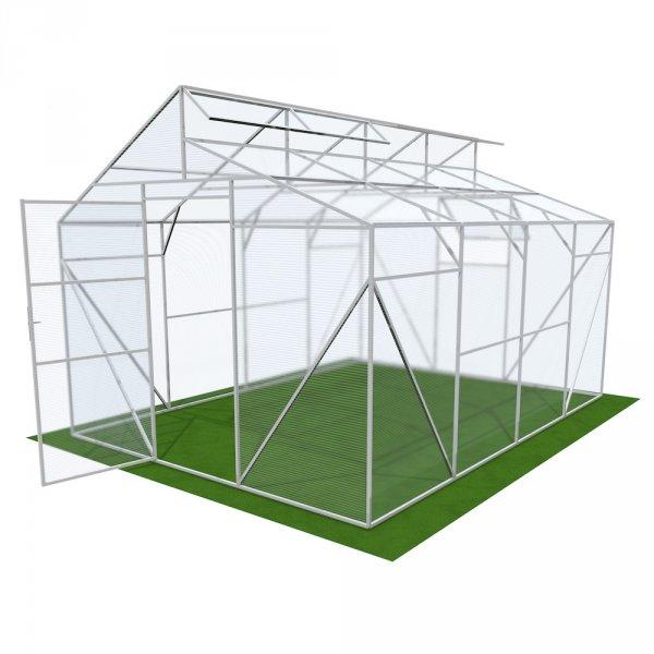 Фото  1 Двускатная теплица Митлайдера 4мм Solidprof 4.1x4x3м Стандарт 1832761