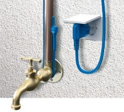 Двужильный кабель с встроенным термостатом (ограничителем температуры) мощностью 10 Вт/м. п. Длина греющей части 14 м. п.