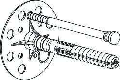 Дюбель для крепления теплоизоляции (Термодюбель) 10x160