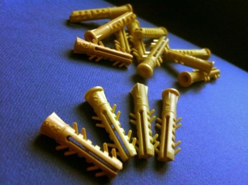 Дюбели распорные серии Five 5х25 и 5х30 mm бурт и без бурта