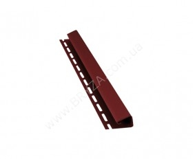 Джей профиль (J), цвет красный / RAL 3011, Размер: 4000 х 45 мм