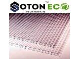 Фото 1 Стільниковий полікарбонат тепличний SOTON ECO 4 - 10 mm (прозо / бронз) 341648
