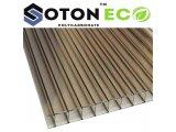 Фото 2 Сотовый поликарбонат тепличный SOTON ECO 4 - 10 mm (прозр/бронз) 341648