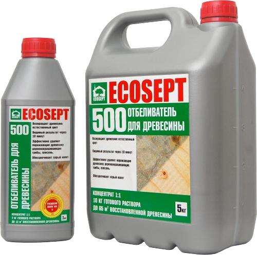 ECOSEPT 500 отбеливатель для древесины 1:1