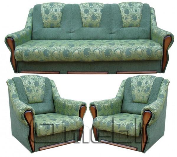 Элегант 311 комплект с нераскл. кресл. код A41522