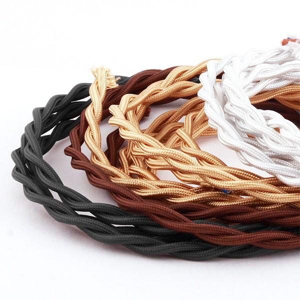 Электрический витой провод 2х1,5 - ретро кабель, ретро электрика, элитная электропроводка, винтаж