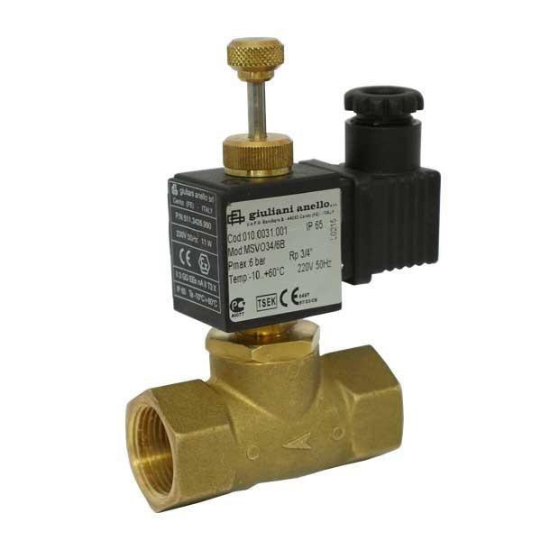 Электромагнитный клапан газ. ELETTR. N. A. 1/2 230V