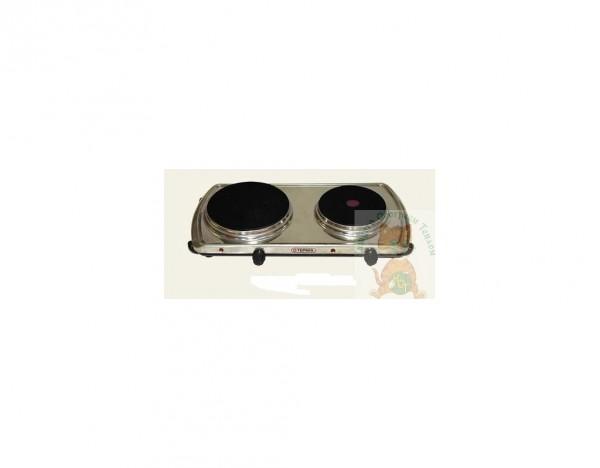 Электроплитка настольная Термия ЭПЧЭ 2-2,7/220 (нерж) с экспресс-нагревателе м для быстрого нагрева. Мощность 2,7 кВт