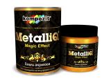 Фото  1 Эмаль акриловая Kompozit METALLIQ металлик 0,5 кг римское золото 2038922