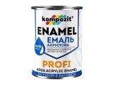 Фото  1 Эмаль акриловая Kompozit PROFI глянцевая 0,3 л черный 2038890