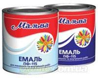 Эмаль ПФ-115 белая (2,8кг) Мальва