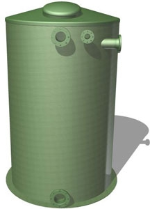 Емкость 10 м3 стеклопластиковая наземная вертикальная