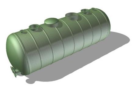 Емкость 20 м3 подземная (цилиндрическая, из стеклопластика)