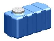Емкость горизонтальная квадратная SG -200 объем: 200 литров