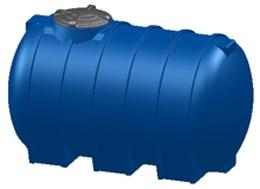Емкость горизонтальная овальная G -2000 объем: 2000 литров
