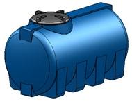 Емкость горизонтальная овальная G -505 объем: 500 литров