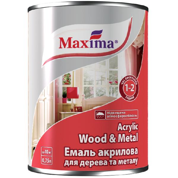 Эмаль акриловая для дерева и металла TM Maxima