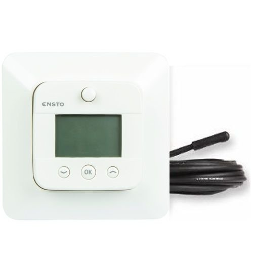 Ensto ECO16LCDJ E Цифровой комбинированный терморегулятор с датчиками п/в,16А