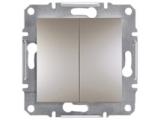 Фото  1 Выключатель двухклавишный 10A Schneider Electric Asfora EPH0300169, бронза 1925927