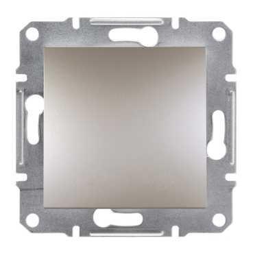 Фото  1 Переключатель одноклавишный перекрестный 10А Schneider Electric Asfora EPH0500169, бронза 1925939