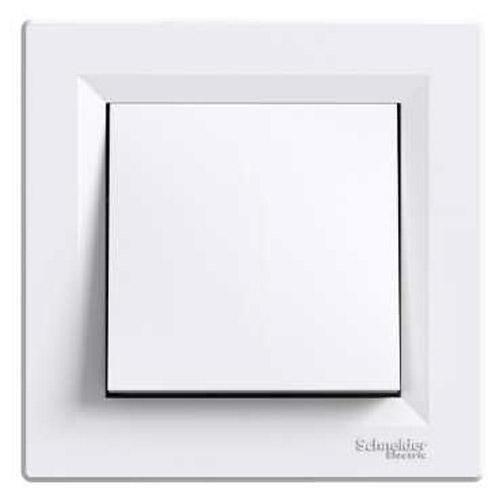 Фото  1 Выключатель кнопочный 10А Schneider Electric Asfora EPH0700121, белый 1925947