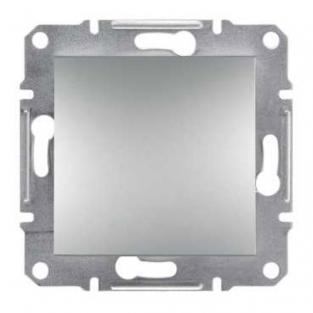 Фото  1 Выключатель кнопочный 10А Schneider Electric Asfora EPH0700161, алюминий 1925949