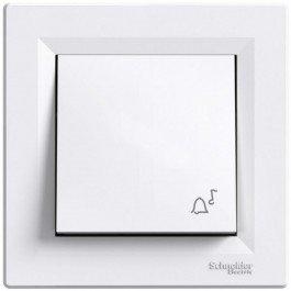 Фото  1 Выключатель кнопочный ЗВОНОК 10А Schneider Electric Asfora EPH0800121, белый 1925953