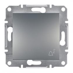 Фото  1 Выключатель кнопочный ЗВОНОК 10А Schneider Electric Asfora EPH0800162, сталь 1925956
