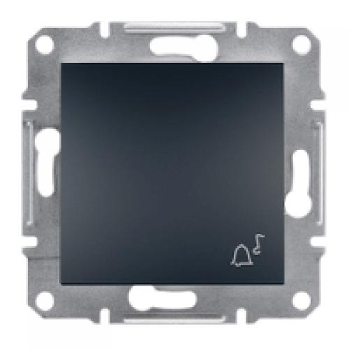 Фото  1 Выключатель кнопочный ЗВОНОК 10А Schneider Electric Asfora EPH0800171, антрацит 1925958