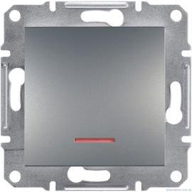 Фото  1 Выключатель одноклавишный с подсветкой Schneider Electric Asfora EPH1400162, сталь 1925968