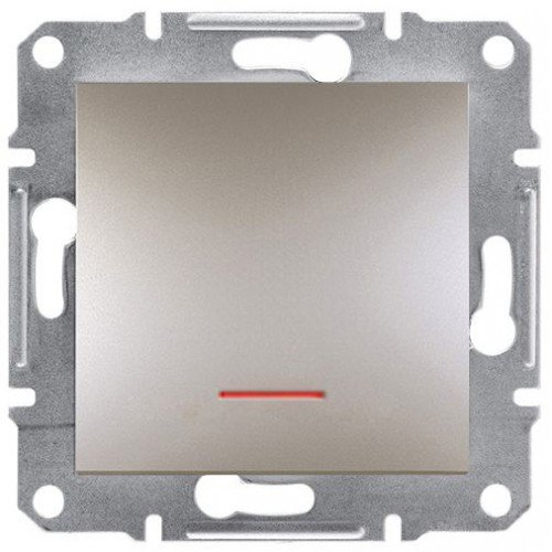 Фото  1 Вимикач одноклавішний з підсвічуванням Schneider Electric Asfora EPH1400169, бронза 1925969