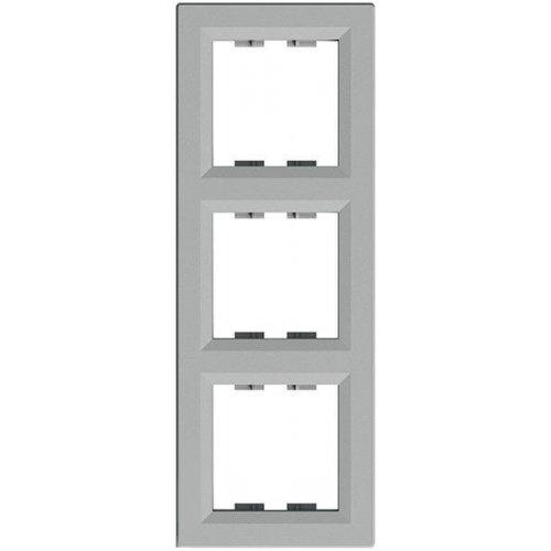 Фото  1 Рамка 3-постовая вертикальная Schneider Electric Asfora EPH5810361, алюминий 1926121