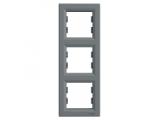 Фото  1 Рамка 3-постовая вертикальная Schneider Electric Asfora EPH5810362, сталь 1926122