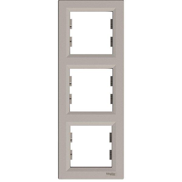 Фото  1 Рамка 3-постовая вертикальная Schneider Electric Asfora EPH5810369, бронза 1926123