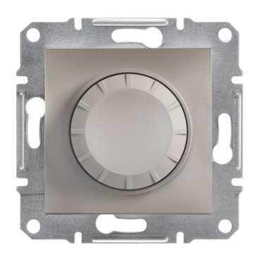 Фото  1 Светорегулятор поворотный 600ВА Schneider Electric Asfora EPH6400169, бронза 1926141
