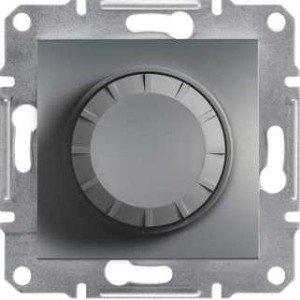 Фото  1 Светорегулятор поворотный 315ВА, проходной Schneider Electric Asfora EPH6600162, сталь 1926146