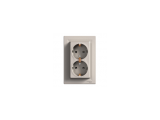 Фото  1 Розетка двойная с з/к Schneider Electric Asfora EPH9900169, бронза 1926153