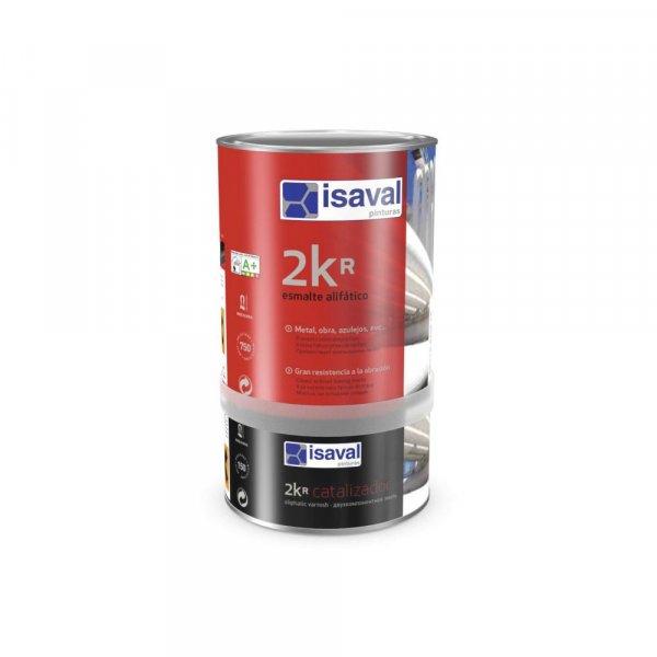 Фото  1 Полиуретановая двухкомпонентная краска повышеной твёрдости, белая, для всех видов металлов 2КР 4л до 48м2 2081159