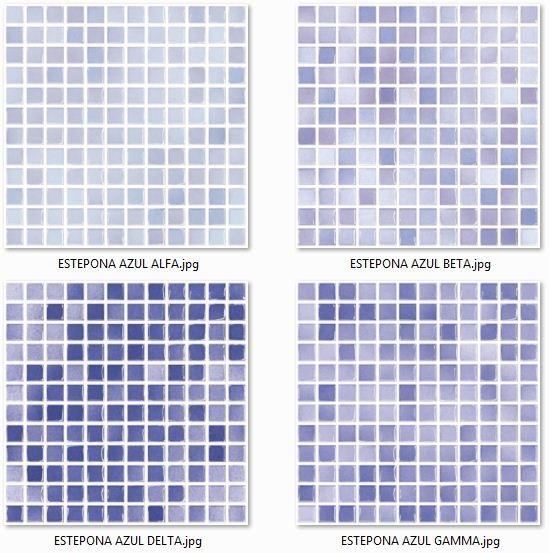 Estepona Azul (Alfa, Beta, Gamma, Delta) byszczca MOZAIKA 30 x 30 - pytki uniwersalne